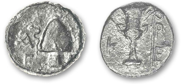 Aigiale Bronze coin 3nd-2nd century BC.