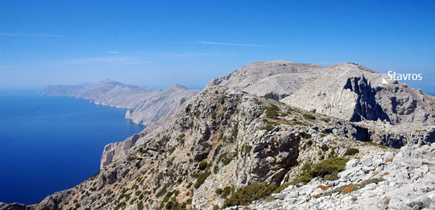 Hiking to Amorgos Forest