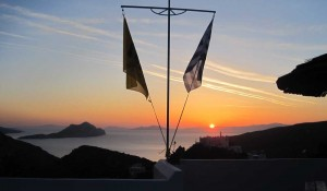 Sunset from the roof of Pagali Hotel - Langada, Amorgos
